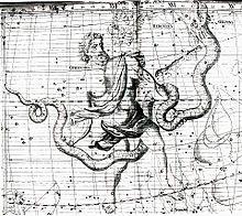 """Описание: File:Johannes Hevelius - Prodromus Astronomia - Volume III """"Firmamentum Sobiescianum, sive uranographia"""" - Tavola P - Serpens et Serpentarius.jpg"""